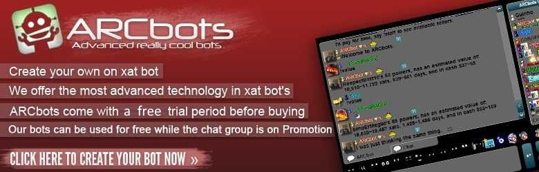 ARCbots Xat Bot Register Banner